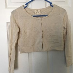 Pins and Needles cream chopped cardigan size s